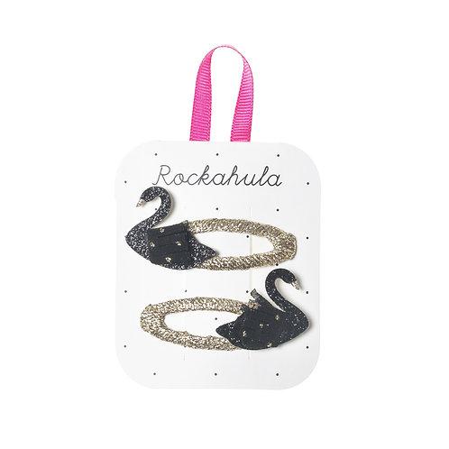 Rockahula Black Swan Glitter Clips