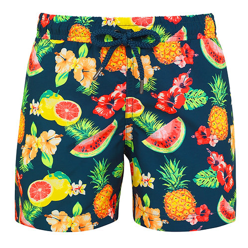 Sunuva Boys Teal Aloha Fruit Swim Shorts