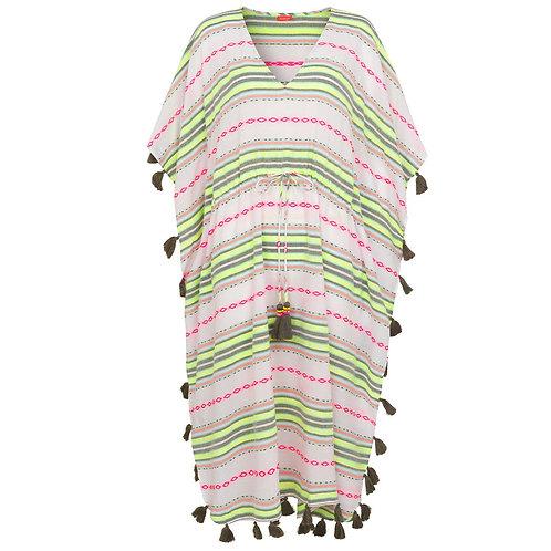 Sunuva Womens Tribal Stripe Tassle Classic Kaftan