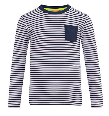 Sunuva Boys Navy Stripe Long Sleeve Rash Vest