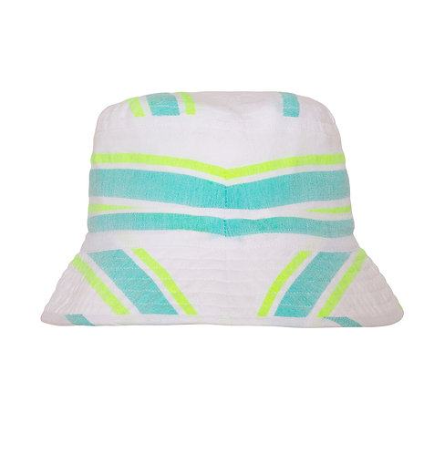 Sunuva Girls Aqua Multistripe Canvas Hat