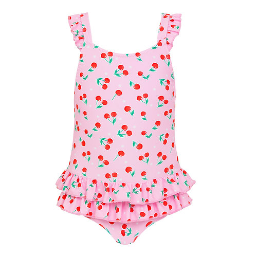 Sunuva Baby Girls Cherries Frill Swimsuit