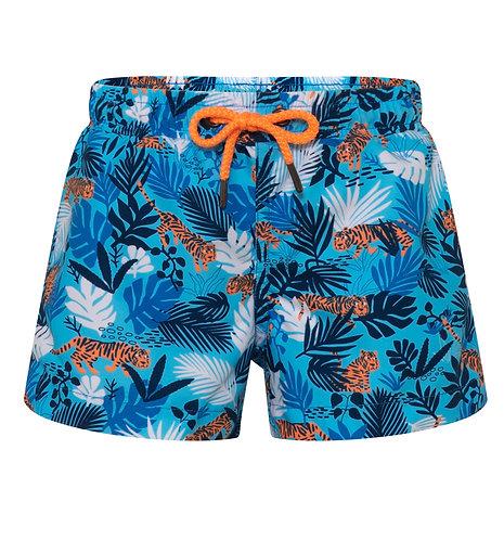 Sunuva Baby Boy Blue Tiger Swim Shorts