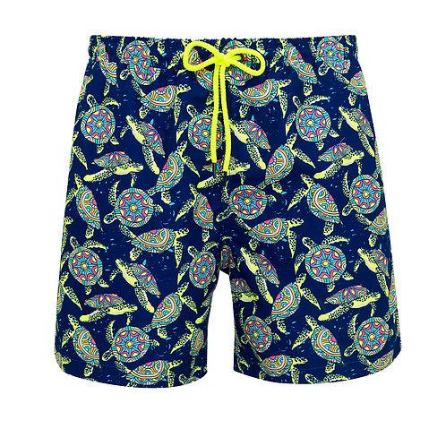 Sunuva Mens Psychedelic Turtles Swim Shorts