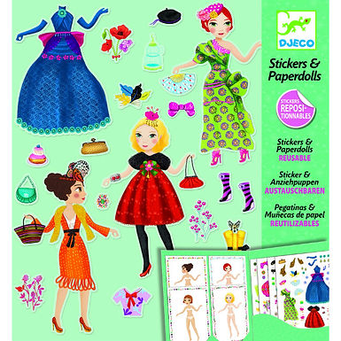 Djeco Stickers And Paperdolls - Fashion