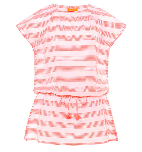 Sunuva Girls Sherbet Pink Boho Dress