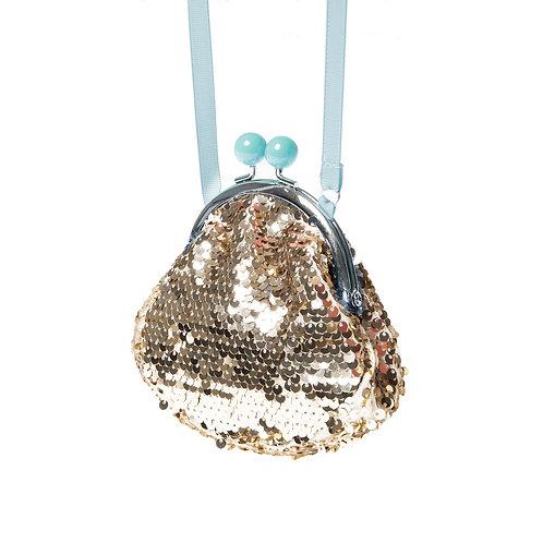 Rockahula Retro Sequin Frame Bag Gold