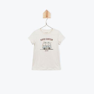 Arsène et les Pipelettes T-Shirt Super Surfeur Chalk