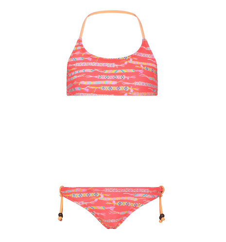 Sunuva Girls Hot Coral Friendship Bracelet Bikini