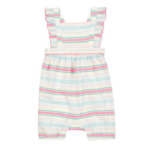 Sunuva Baby Girls Multi Stripe Romper