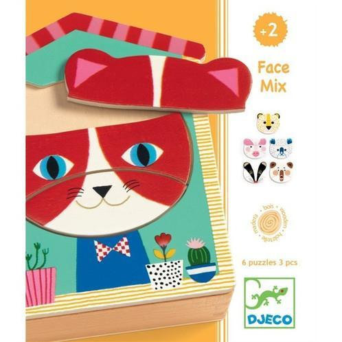 Djeco Puzzle Face Mix