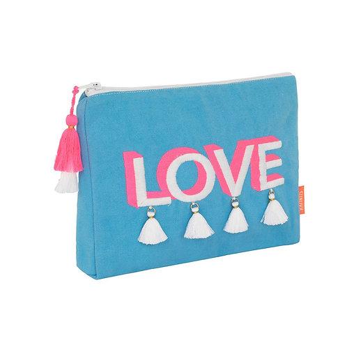 Sunuva Blue Love Tassel Washbag