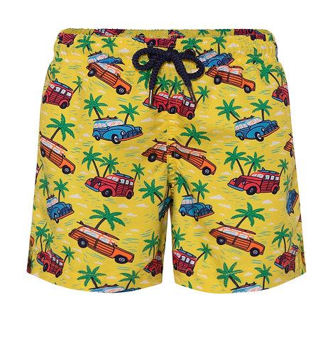 Sunuva Boys Yellow Road Trip Swim Shorts