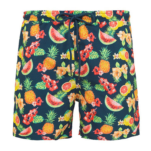 Sunuva Mens Teal Aloha Fruit Swim Shorts
