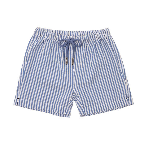 Sunuva Baby Boy Blue Stripe Cotton Short