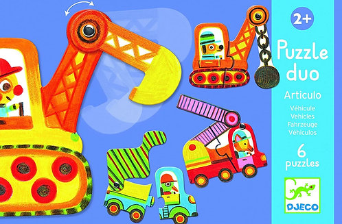 Djeco Puzzle Articulo Vehicles