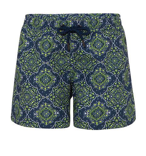 Sunuva Boys Navy Bandana Swim Shorts
