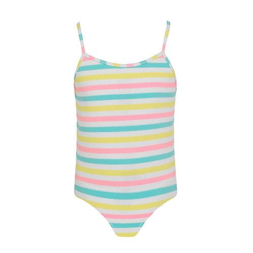Sunuva Girls Multi Stripe Strappy Swimsuit