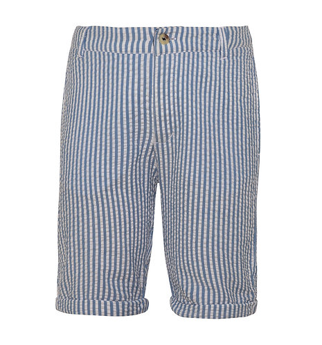 Sunuva Boys Navy Seersucker Cotton Shorts