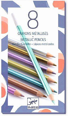 Djeco 8 Metallic Pencils