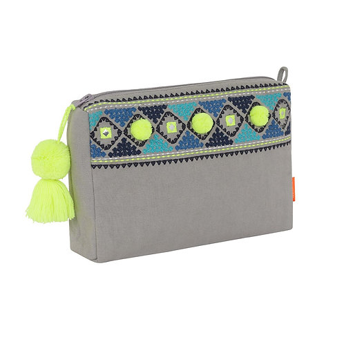 Sunuva  Light Grey Diamond Detail Washbag