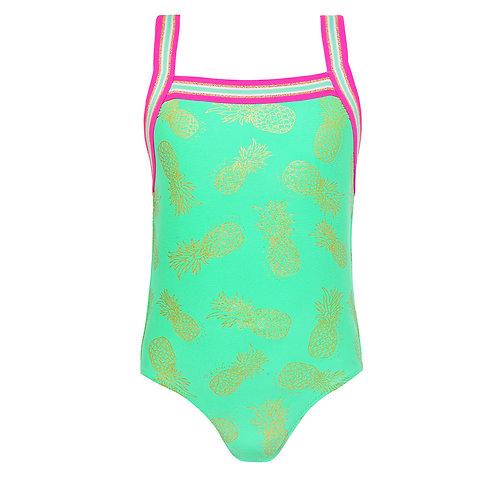 Sunuva Girls Pineapple Cross Back Swimsuit