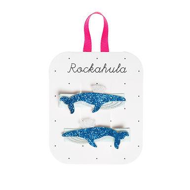 Rockahula Blue Whale Glitter Clips