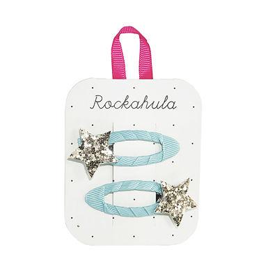 Rockahula Star Burst Glitter Blue Clips