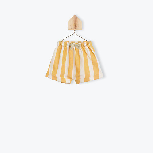Arsène et les Pipelettes Baby Short Caramel Stripes