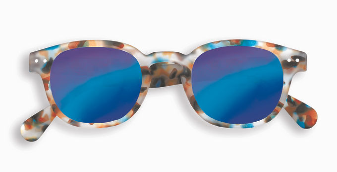 Izipizi Adult Shape #C The Retro - Blue Tortoise Mirror
