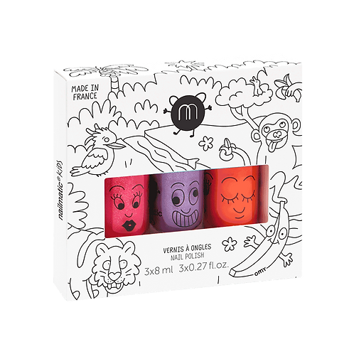 Nailmatic Set of 3 Water-Based Nail Polish Jungle
