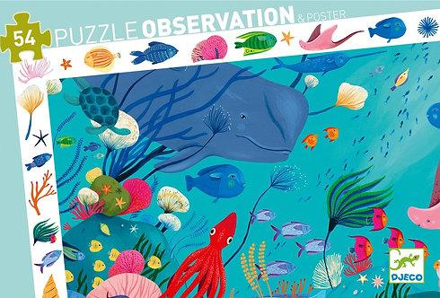 Djeco Puzzle Observation Aquatique
