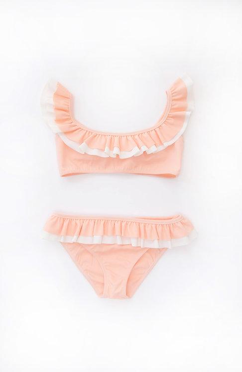 Folpetto Kate Bikini Peach Pink and Ivory