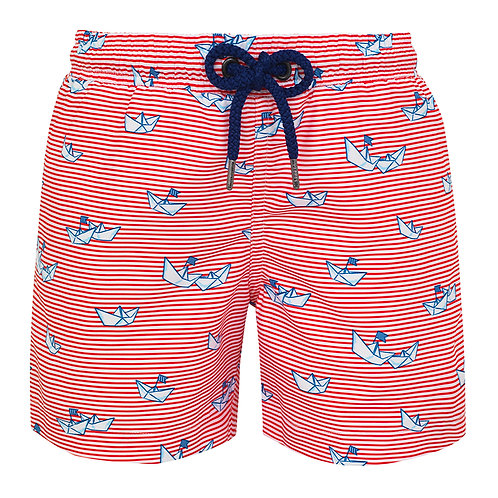 Sunuva Boys Paper Boats Swim Shorts
