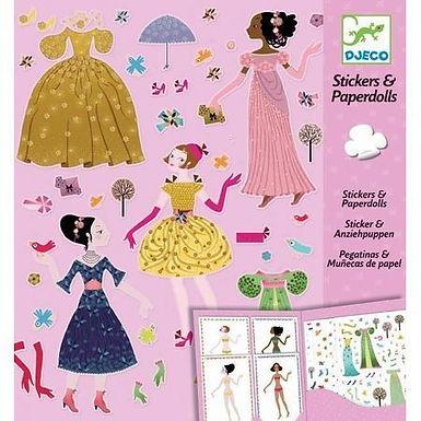 Djeco Stickers And Paperdolls - 4 Seasons