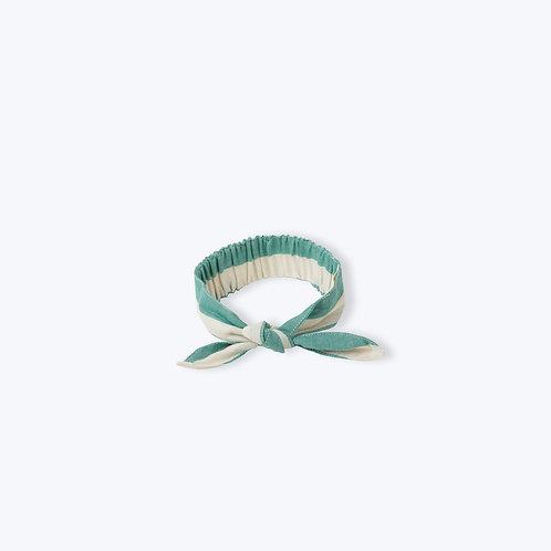 Arsène et les Pipelettes Stripes Paon Hairband