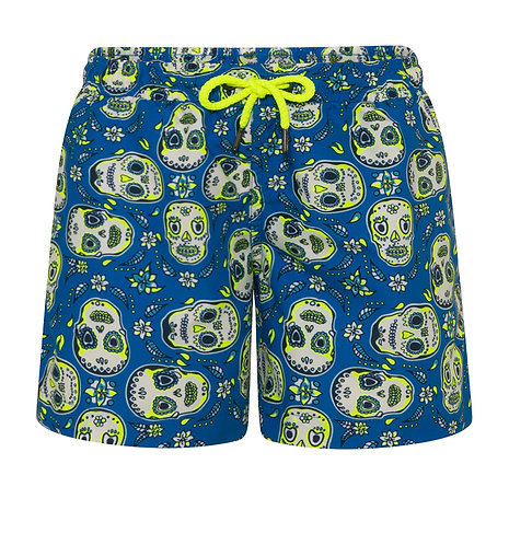 Sunuva Boys Blue Mexican Skulls Swim Shorts