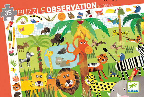 Djeco Puzzle Observation The Jungle
