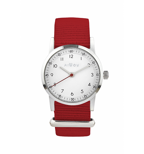 Millow Classique Watch Red Braided Strap