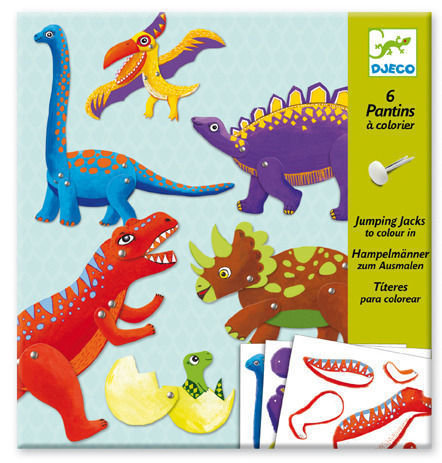 Djeco Puppets Jumping Jack Dinosaurs