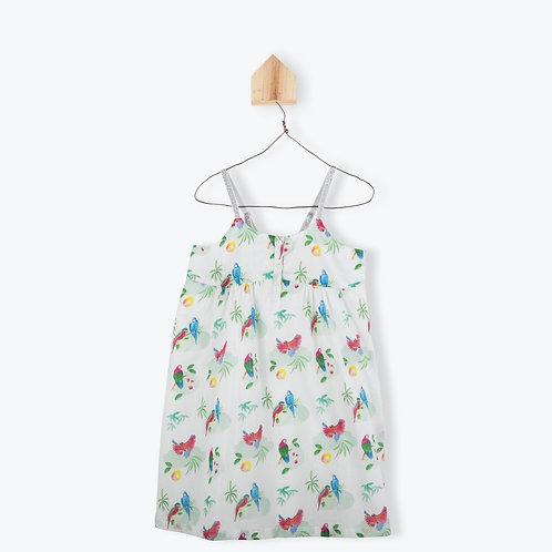 Arsène et les Pipelettes Girl Dress Parrots