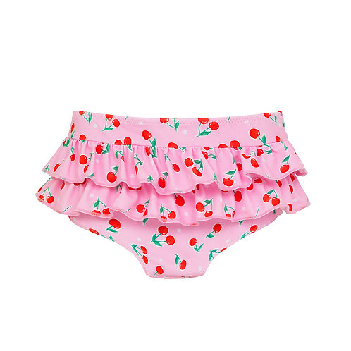 Sunuva Baby Girls Cherries Frill Nappy Pant