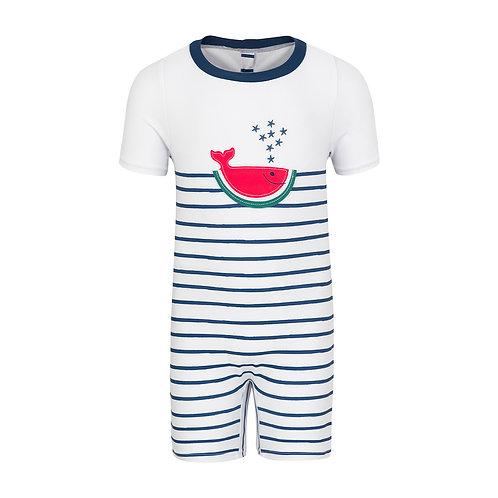 Sunuva Baby Boys Watermelon Whale Sun Suit