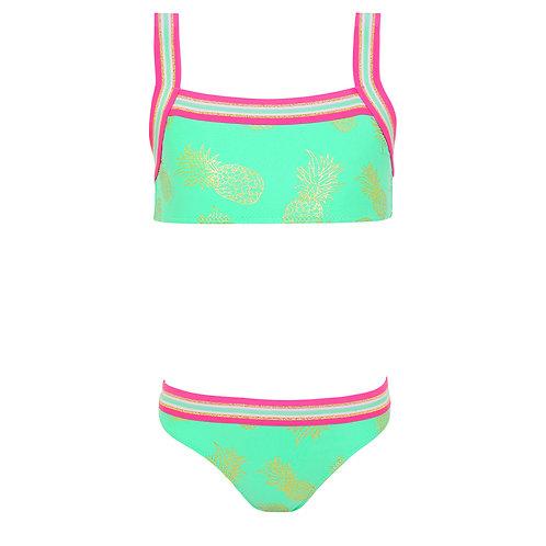 Sunuva Girls Pineapple Cross Back Bikini
