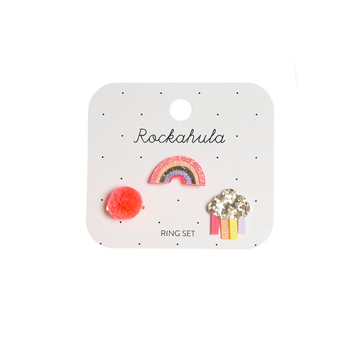 Rockahula Sherbet Dip Rainbow Ring Set