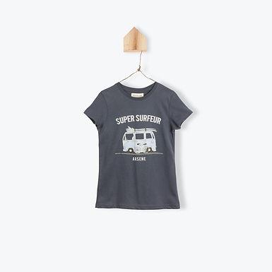 Arsène et les Pipelettes T-Shirt Super Surfeur Dark Grey
