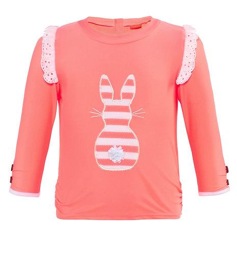 Sunuva Baby Girls Pink Waffle Stripes Rash Vest