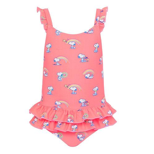 Sunuva Baby Girls Snoopy Frill Swimsuit