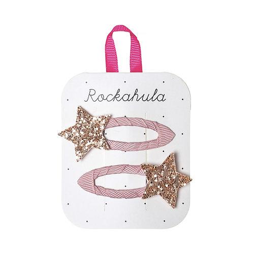 Rockahula Star Burst Glitter Pink Clips