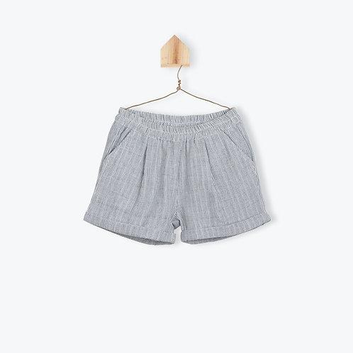 Arsène et les Pipelettes Girl Short Striped Indigo